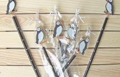 Wood Puffin pencils - Træ blyanter