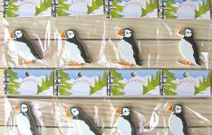 Wood Puffin magnets - Træ magneter